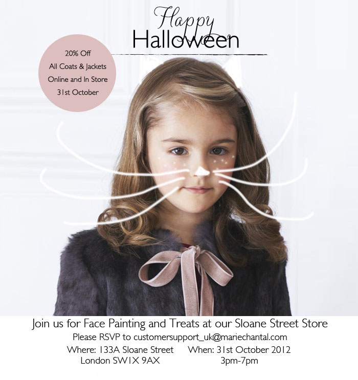 {Mummy & Me/Shopping} A Halloween Invitation from Marie Chantal for American Girl Readers