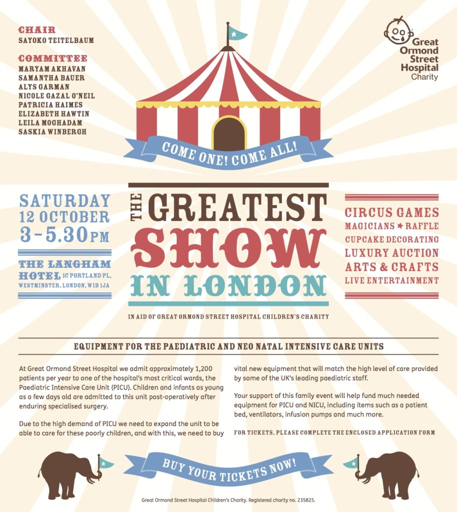 The Greatest Show in London Invitation-1