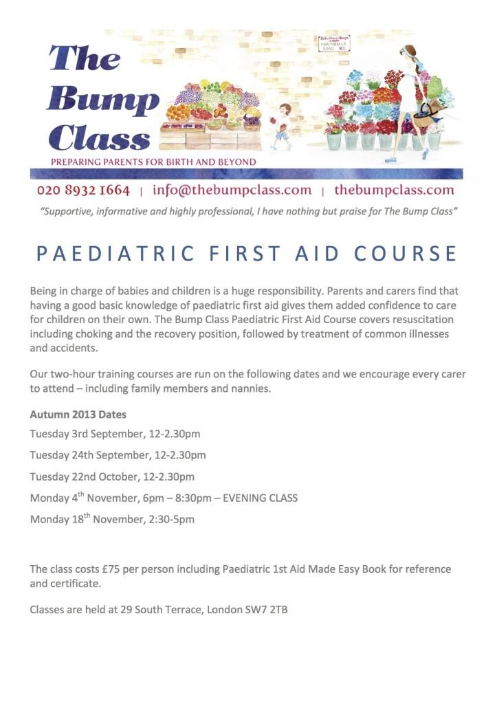 First Aid - Autumn Winter 2013 Dates