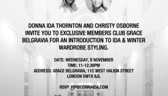 {A Date for Your Diary} Winter Styling Event With Donna Ida at Grace Belgravia