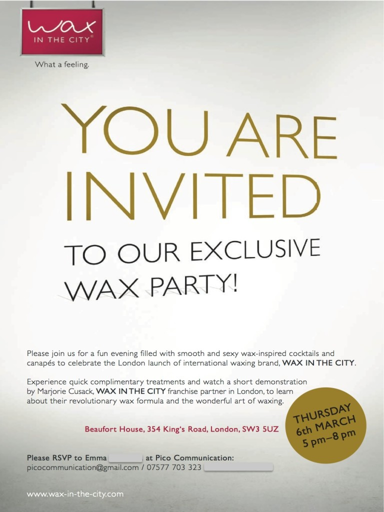 Wax Party Invite 2
